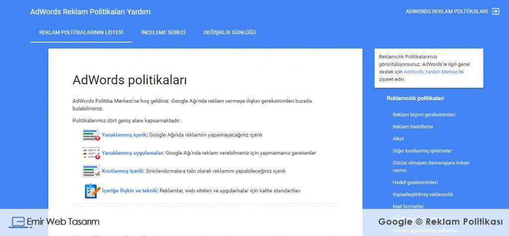 google-reklam-politikasi