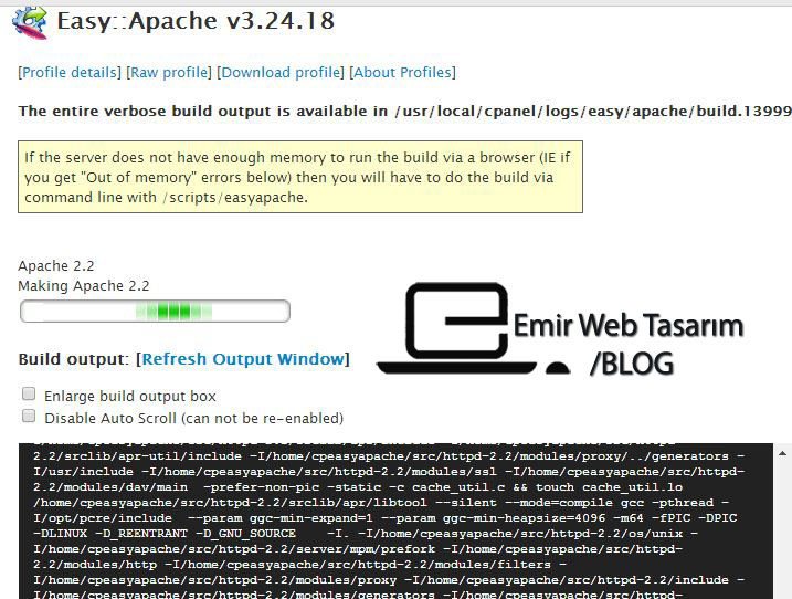 easy-apache-update-derlemesi
