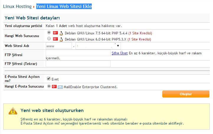 yeni-linux-web-sitesi-ekle