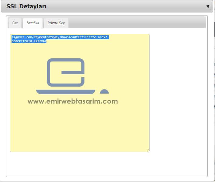 İsimtescil .NET SSL Detayları