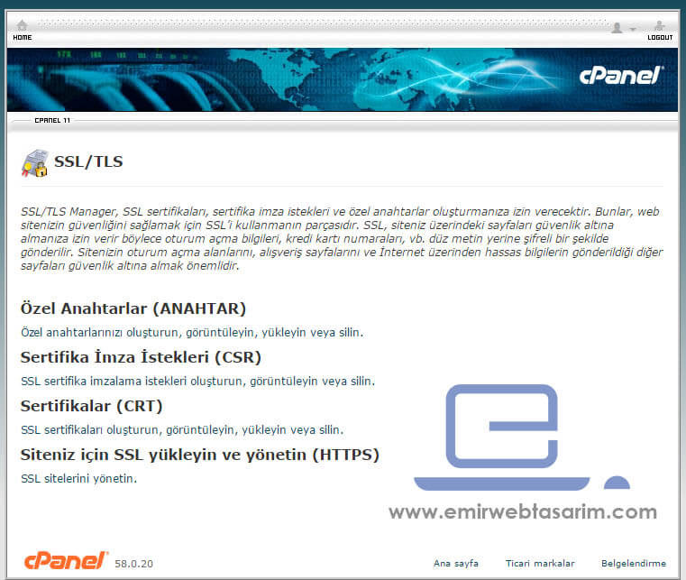 ssl-tls-ssl-sertifika-yonetim-ekrani